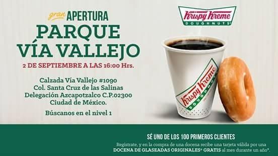 Krispy Kreme te regala una caja de donas por mes durante un año por inauguracion de su nueva sucursal