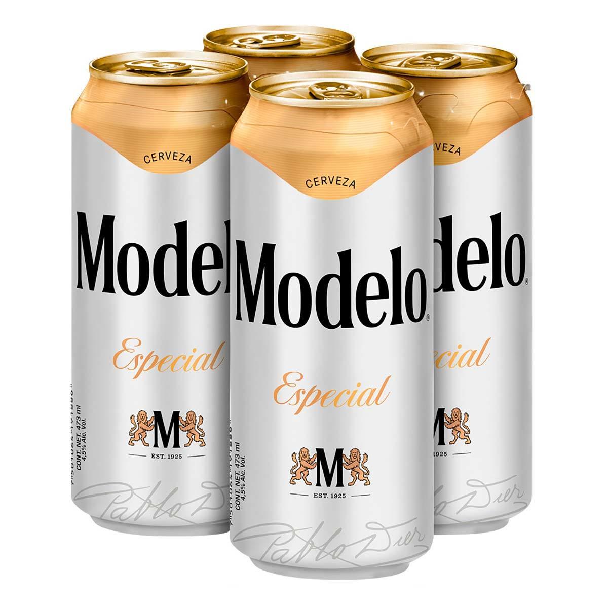 Chedraui, Cerveza Modelo Especial 4 Pack Latón 473ml