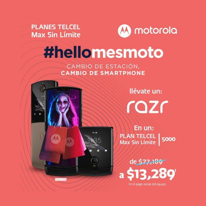 Telcel, Moto Razr en un Plan Telcel Max Sin Límite 5000