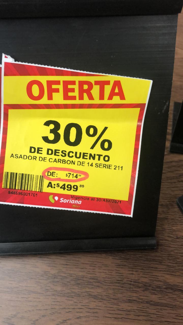 Soriana: ASADOR PORTÁTIL 14'