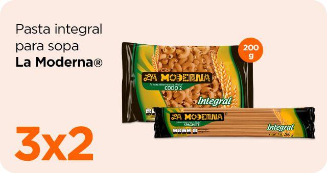 Chedraui: 3 x 2 en pasta para sopa La Moderna integral 200 g
