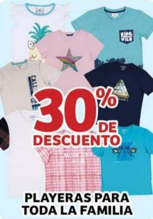Soriana Híper: 30% de descuento en playeras para toda la familia
