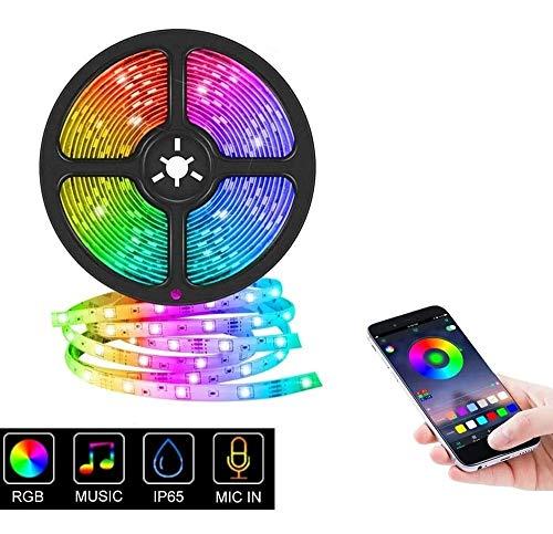 Amazon: Tira de Luz LED Bluetooth de 5 metros. Tira Luces Led RGB Sincronizar con Music Iluminación a Través de APP