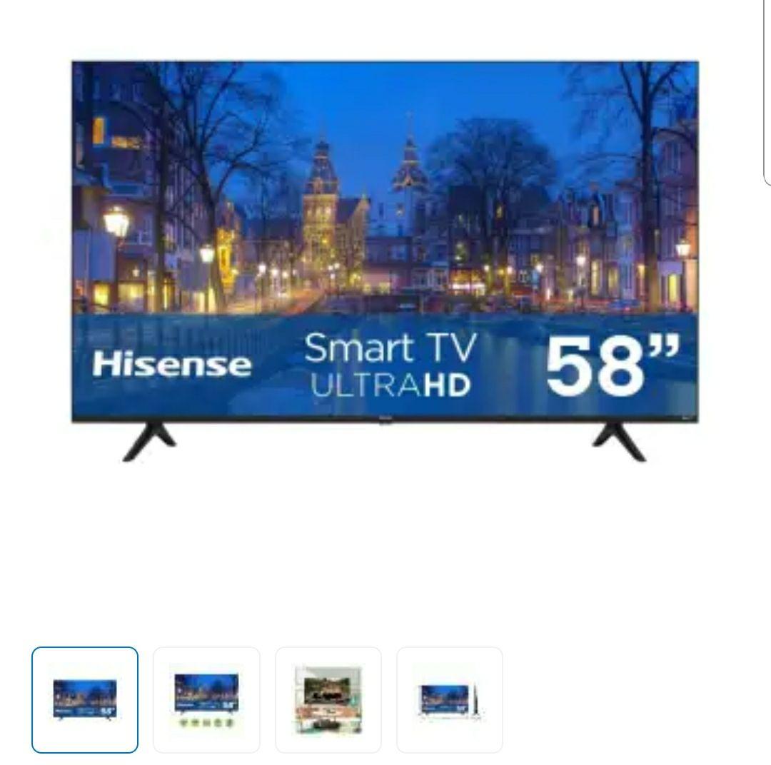 Sam's Club: Pantalla Hisense 58 Pulgadas UHD 4K Roku TV (Pagando con Debito)