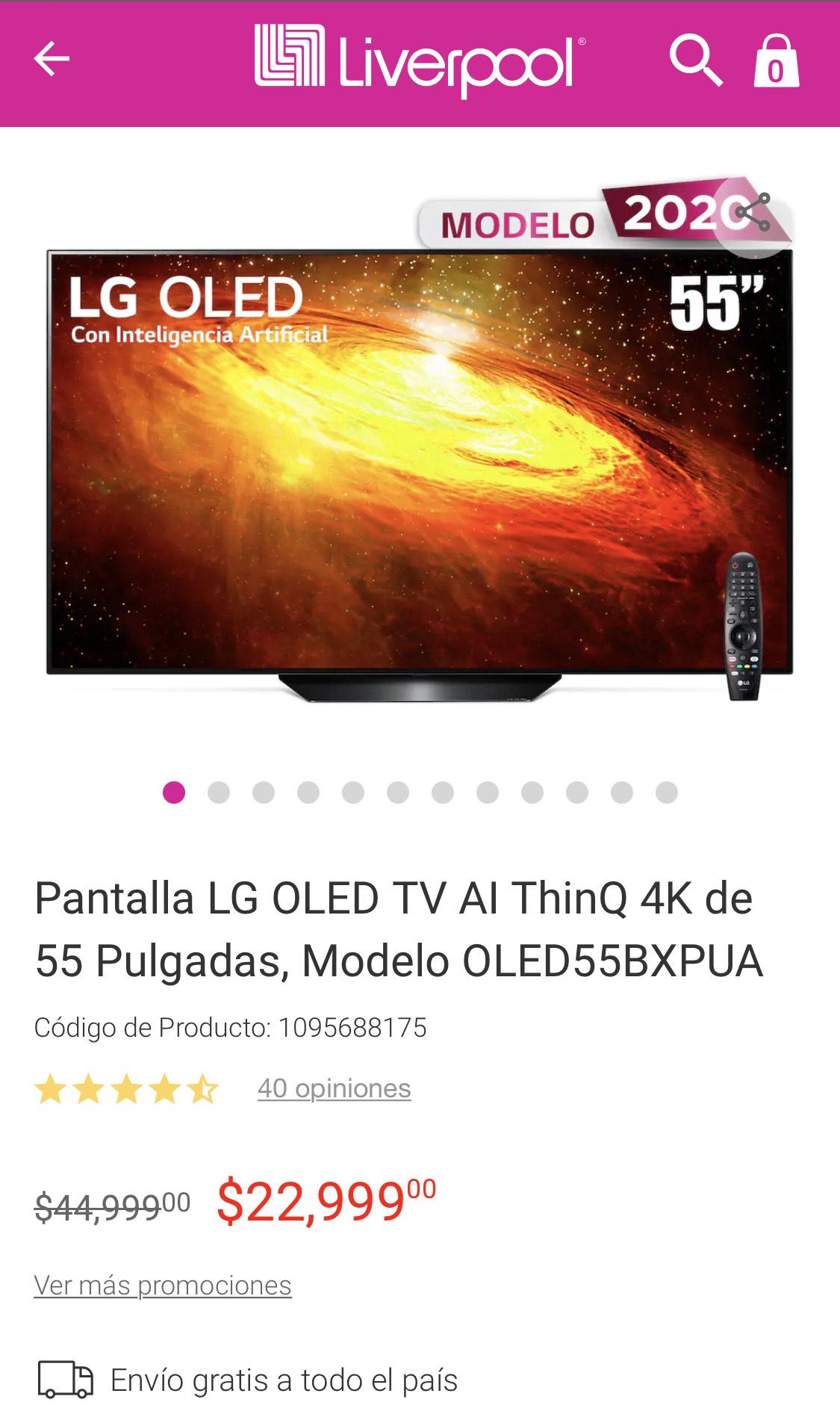 Liverpool: Smart TV LG OLED BX