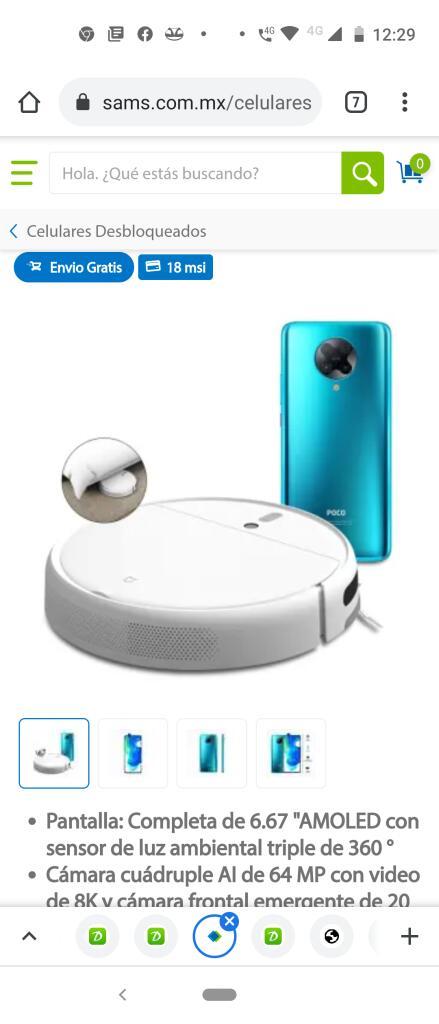 Sam's Club: Smartphone Xiaomi Pocophone F2 Pro Azul Desbloqueado + Mi Robot Vacuum Mop debito