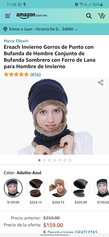 Amazon: Gorro con bufanda excelente para el invierno en el que vivimos