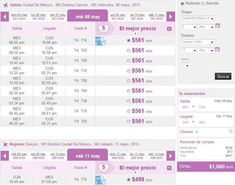 Volaris: vuelos nacionales desde $499