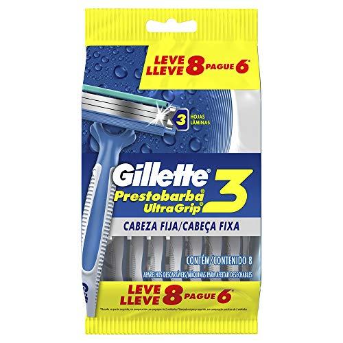 Amazon: Gillette Máquinas para Afeitar Desechables, Paquete de 8