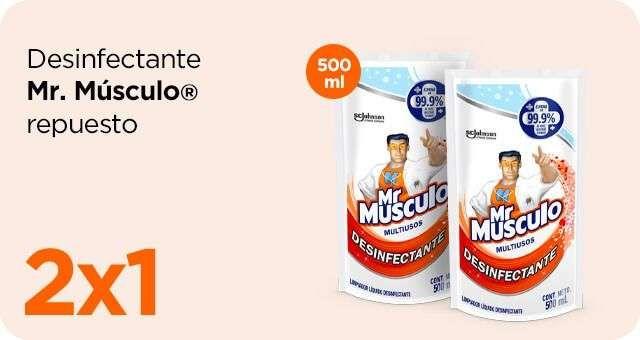 Chedraui: 2 x 1 en desinfectante Mr. Músculo doypack 500 ml.