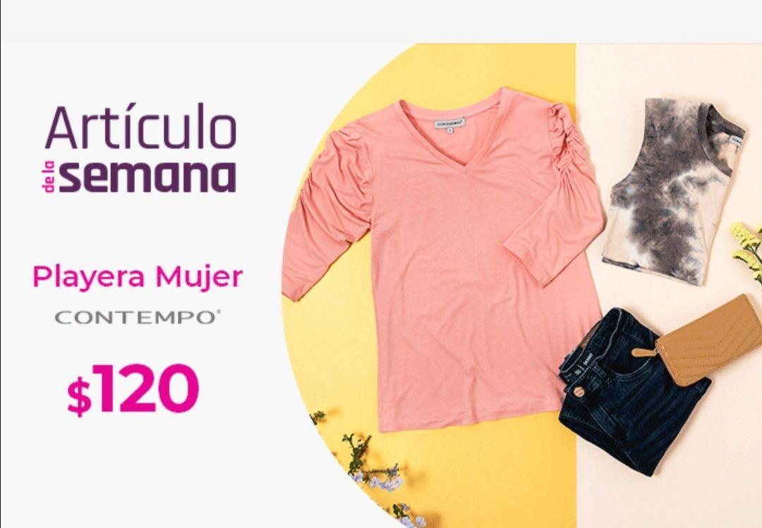 Suburbia: Artículo de la Semana del Lunes 15 al Domingo 21 de Marzo: Playera para mujer Contempo $120