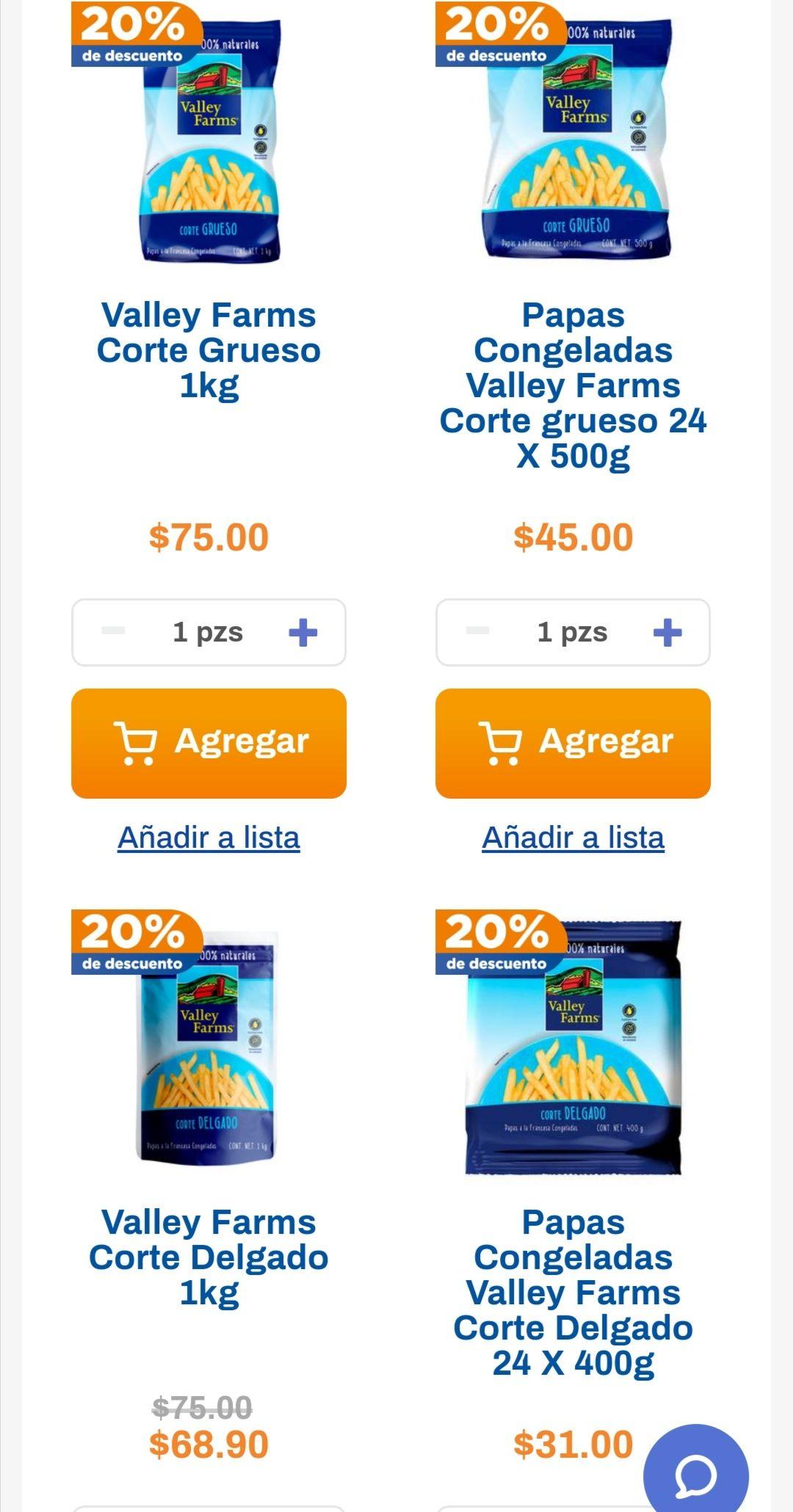 Chedraui: 20% de descuento a partir de 2 bolsas de papas Valley Farms