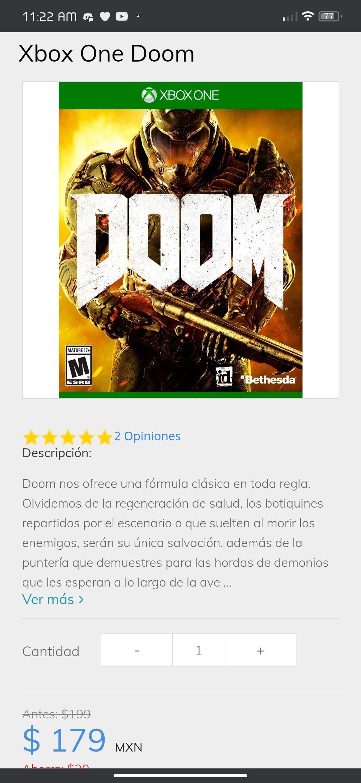 Sanborns: Doom (2016) Xbox One