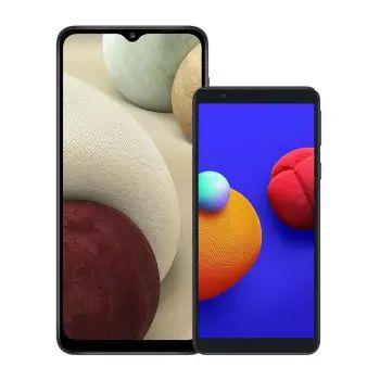 Sam's club: Samsung Galaxy A12 Negro + Galaxy Core A01 Desbloqueados