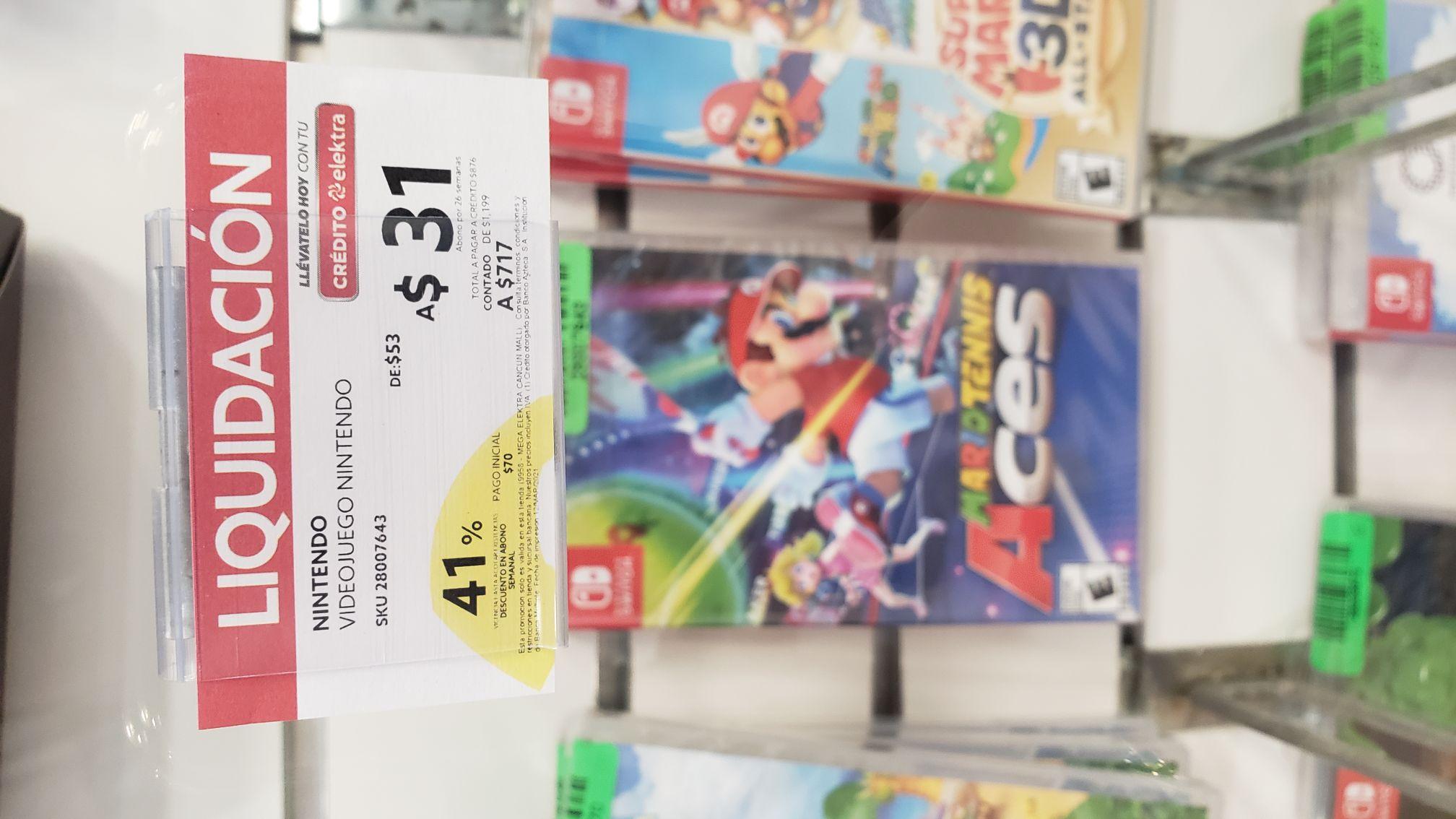 Elektra: Mario Tenis Aces para Nintendo switch