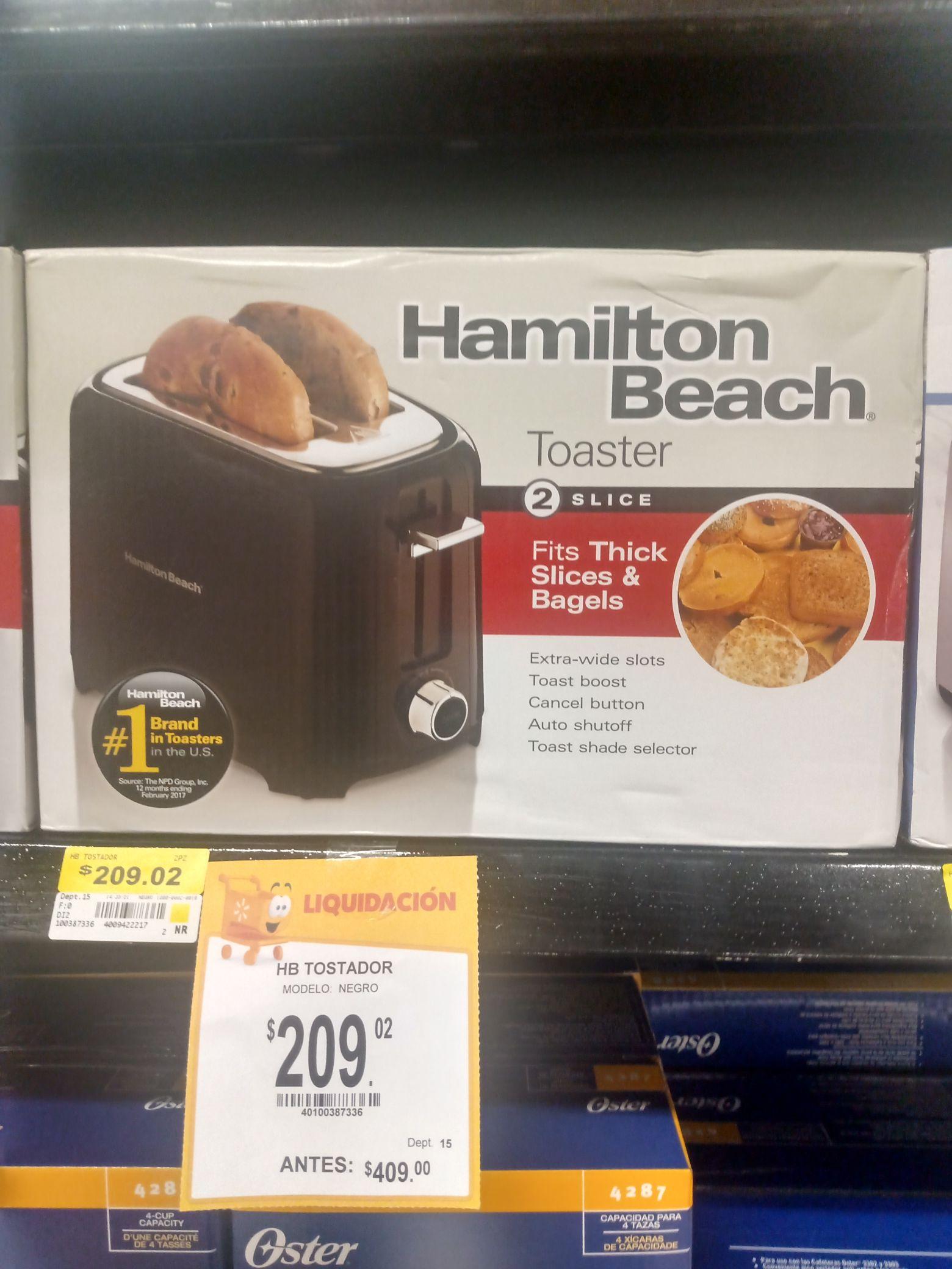 Walmart: Tostador Hamilton