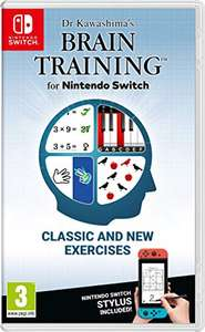 Amazon: Dr Kawashima's Brain Training (Nintendo Switch) (incluye stylus)