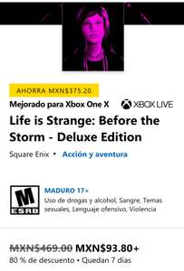 Xbox: Life is Strange Before The Storm Deluxe Edition