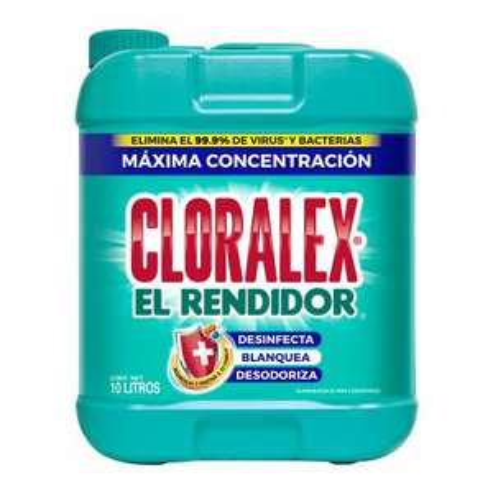 Sams club: Blanqueador Líquido Cloralex El Rendidor 10 l - 2 x $163