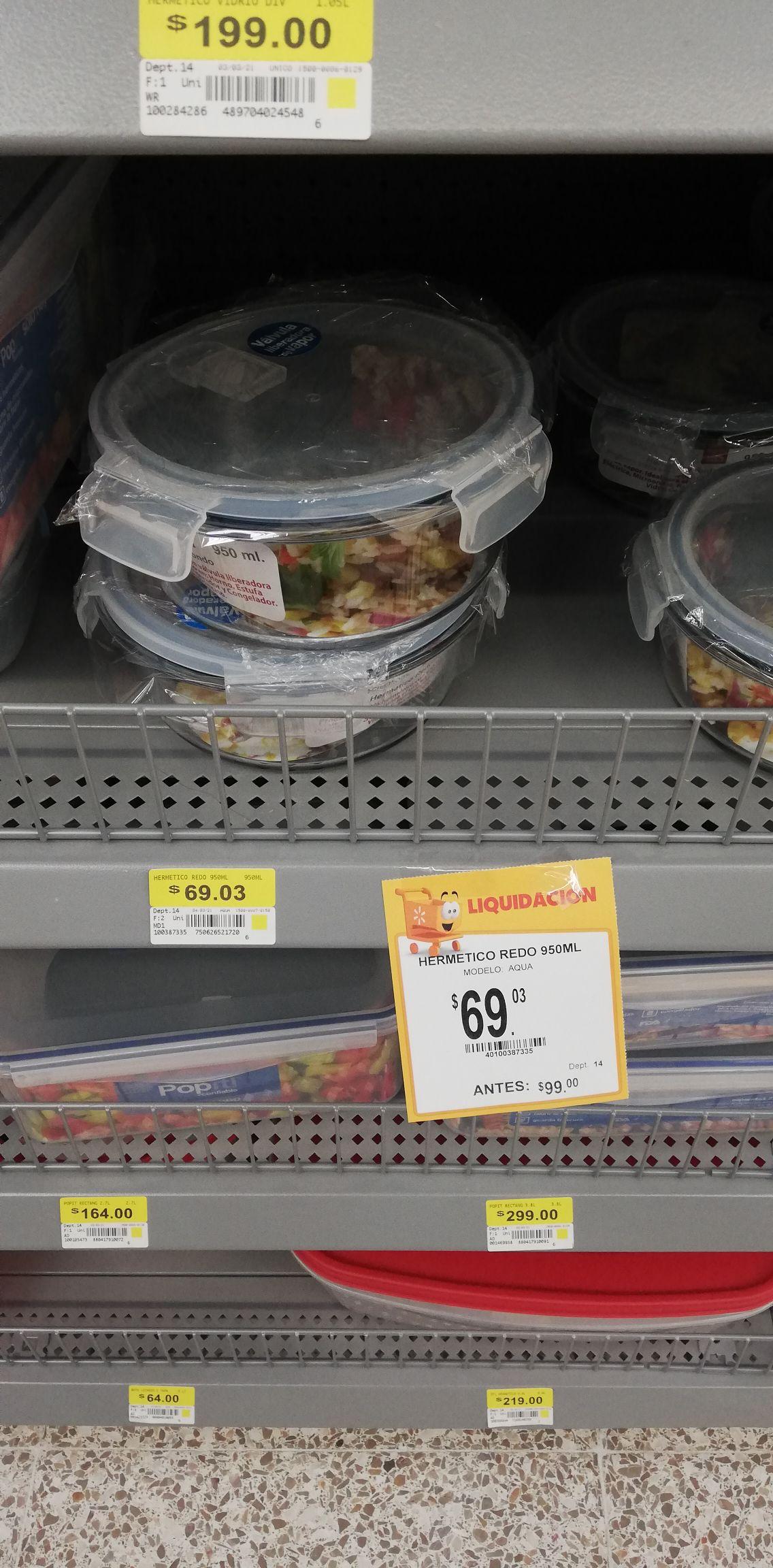 Walmart: Hermético redondo
