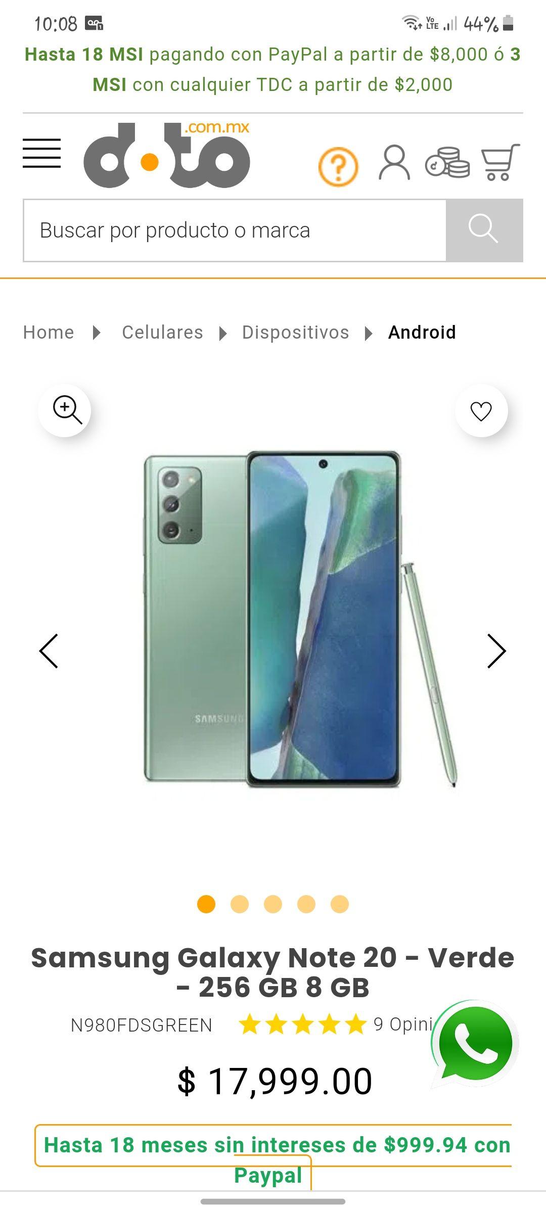 Doto: Samsung Galaxy Note 20