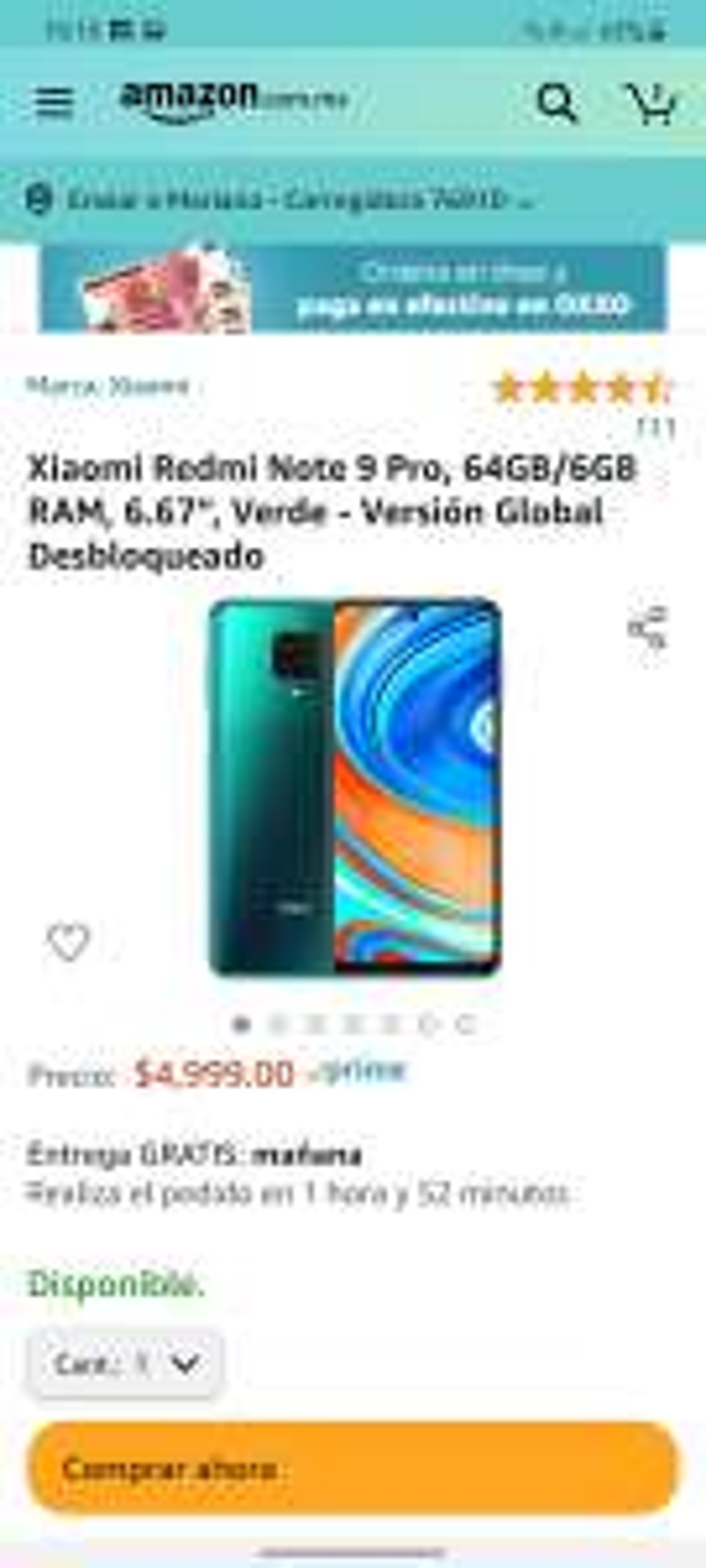 Aazon: Redmi note 9 pro