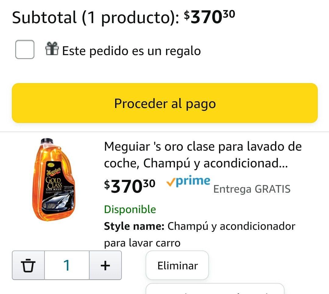 Amazon: Meguiar's oro clase (shampoo para auto)