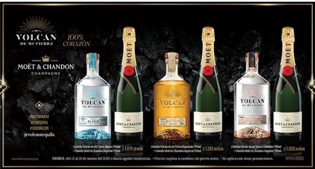 Vinoteca: Promoción tequila volcán de mi tierra + moet