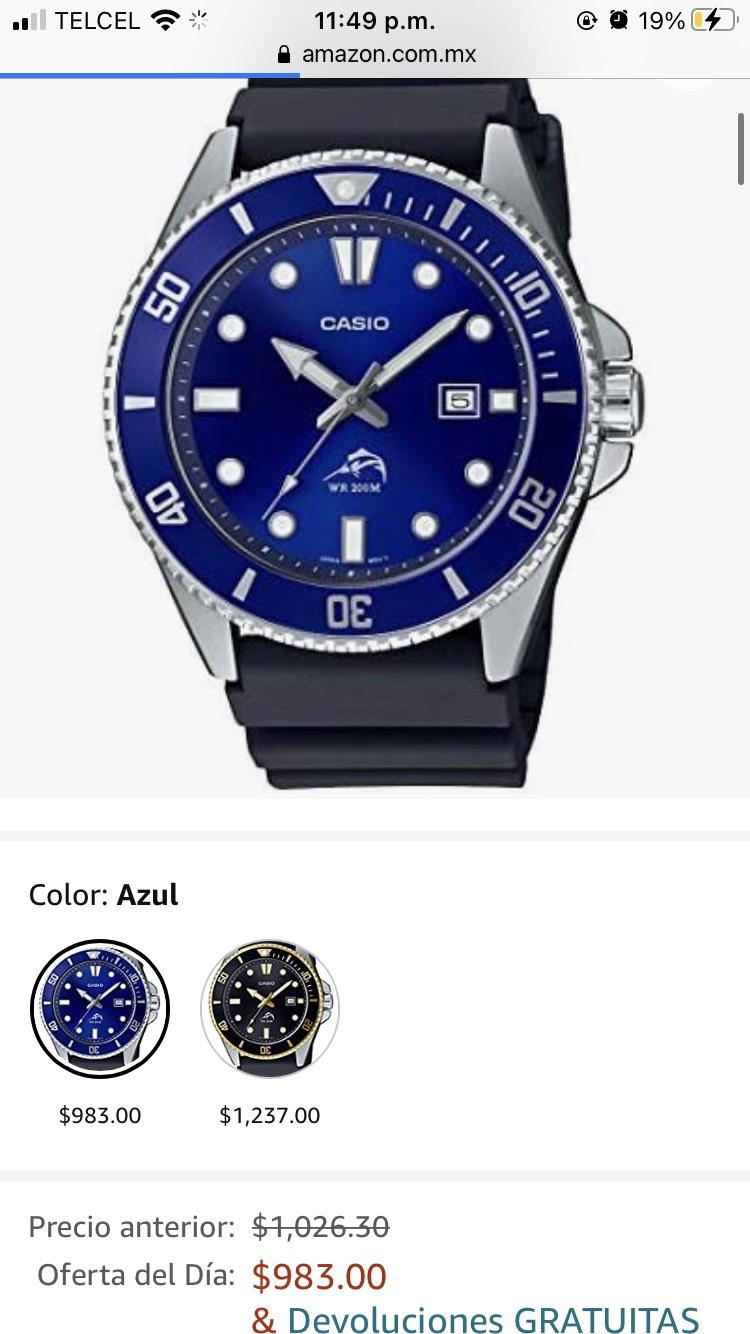 Amazon: Reloj Casio Marlin súper precio (color azul)