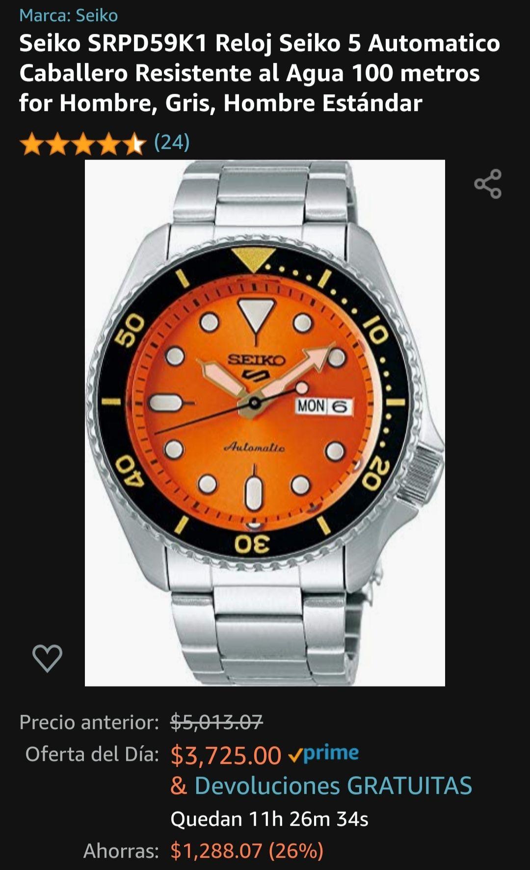 Amazon: reloj Seiko 5