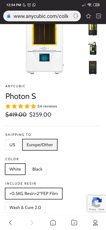 ANYCUBIC: impresora 3d Photon S /precio más envío e impuestos