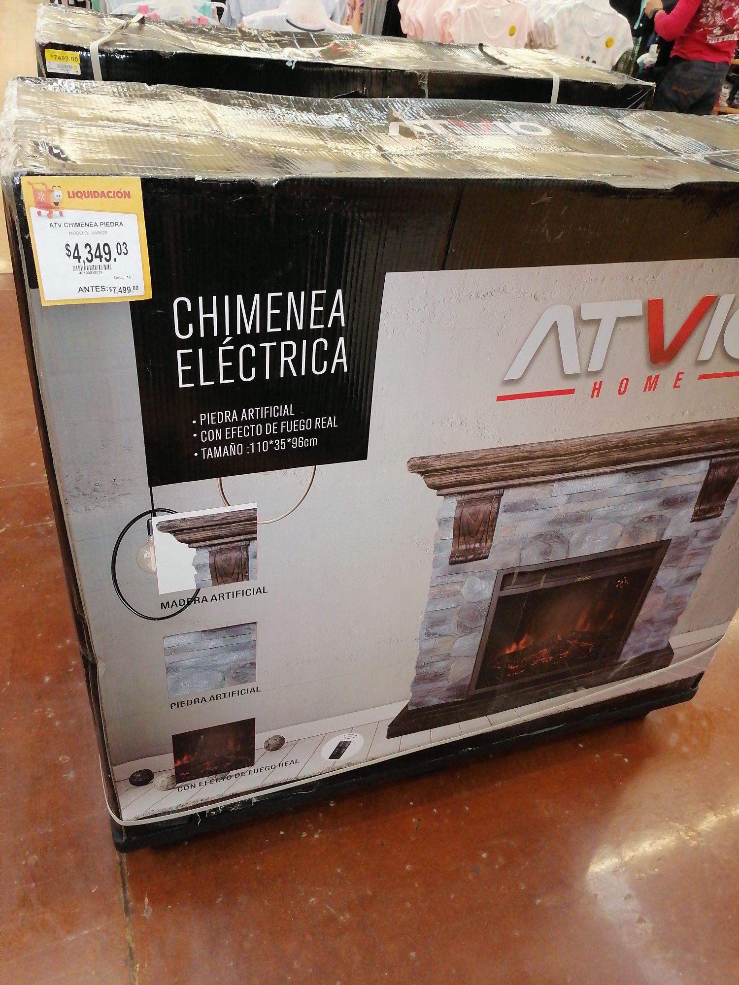 Walmart: Chimenea Electrica
