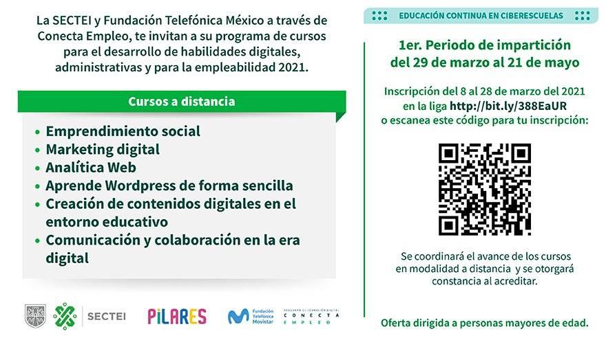 Cursos en línea sobre habilidades digitales y empleabilidad