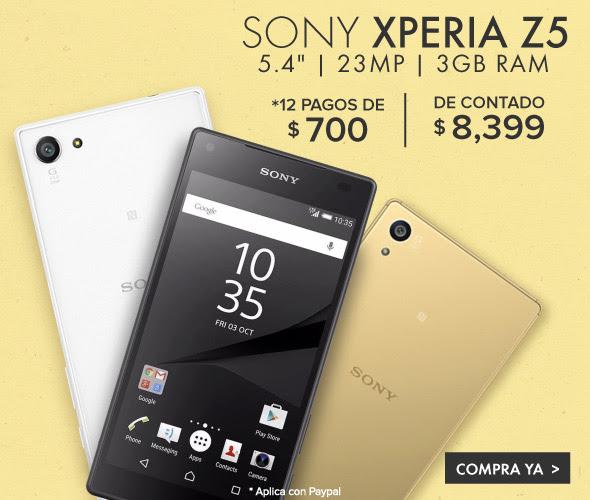 Linio: Sony Xperia Z5 a $8,399
