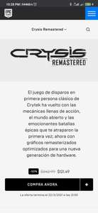 Epic Games: Crysis Remastered