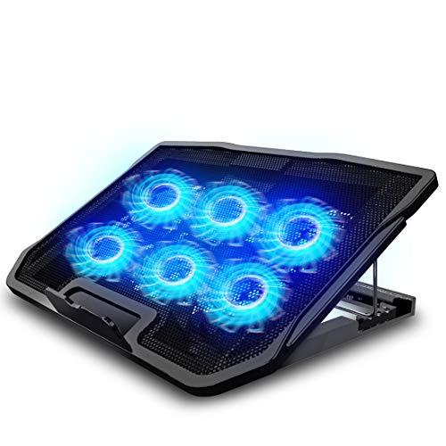 Amazon: TYC Ventilador Laptop, Base De Refrigeración para laptop con luces LED para eso de los FPS