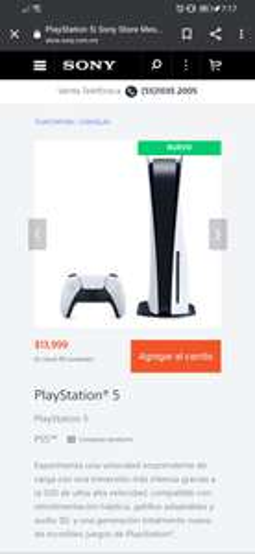 Sony Store PS5 edición estándar
