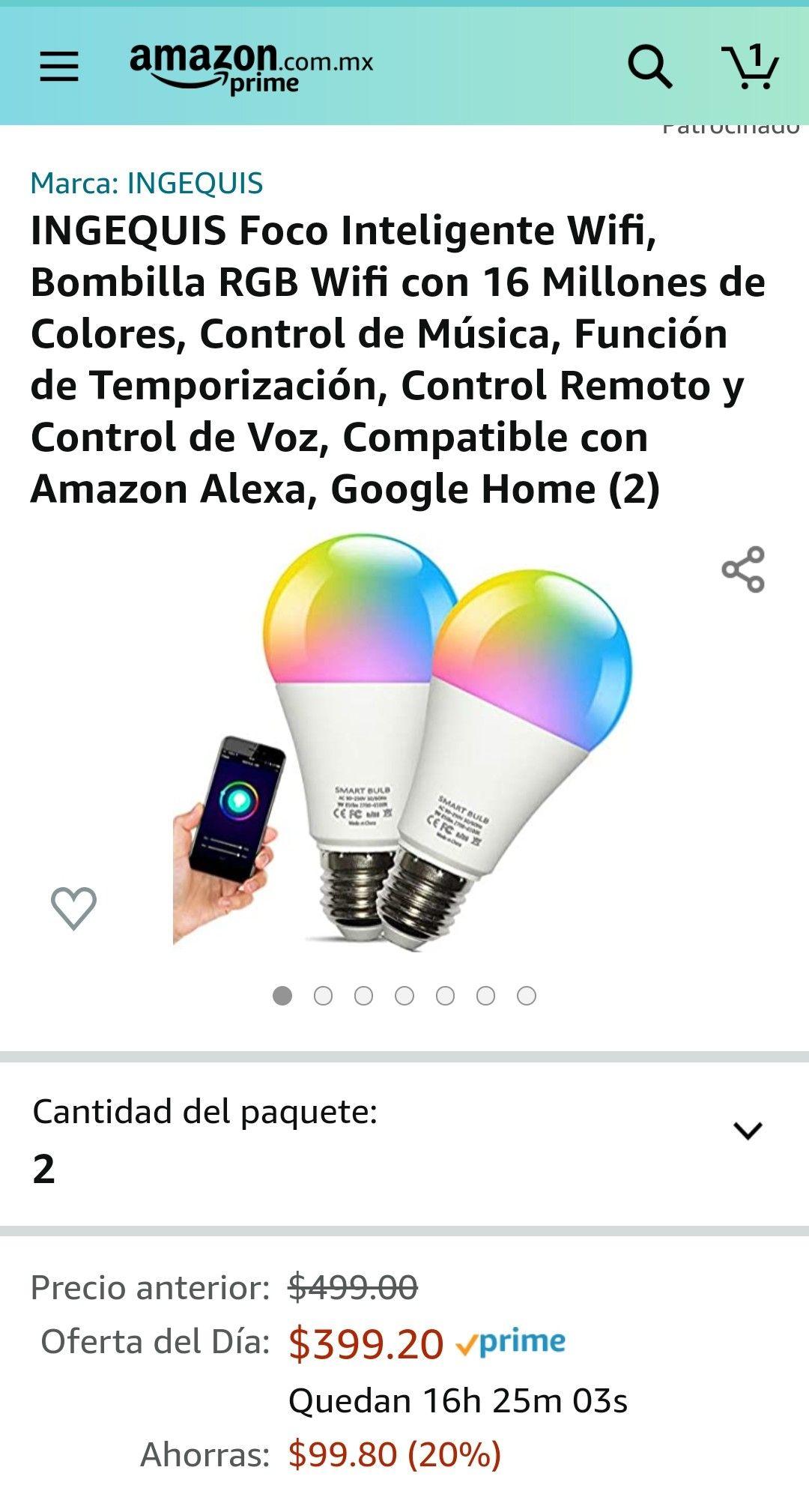 Amazon - 2 focos inteligentes