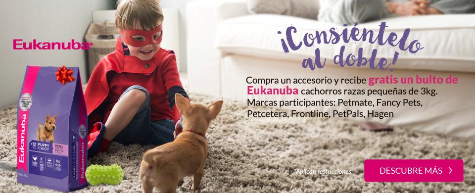 Petsy: Gratis bulto de Eukanuba cachorros razas pequeñas de 3kg al comprar accesorio