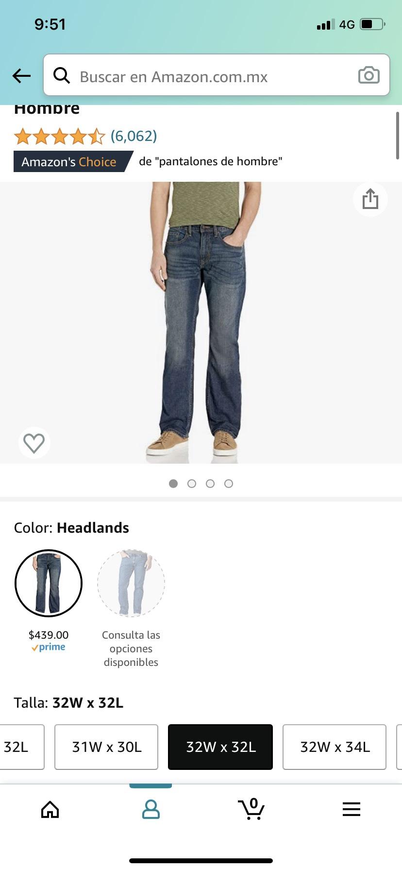Amazon: Levi's Relaxed Fit Jeans Mezclilla para Hombre