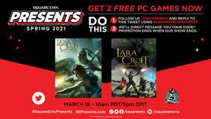 Square Enix: Lara croft gratis para pc