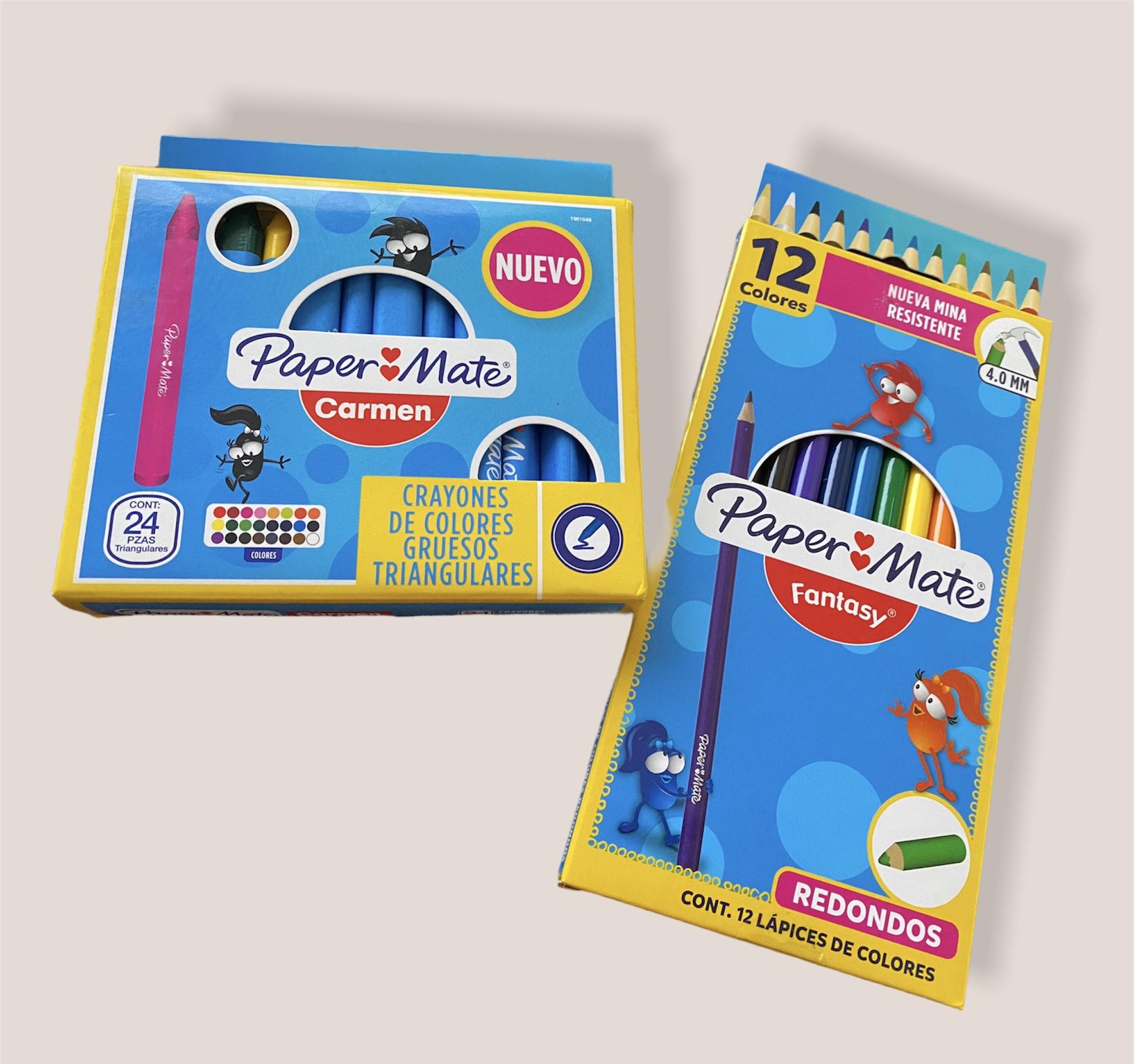 Bodega Aurrerá: 24 Crayones paper mate