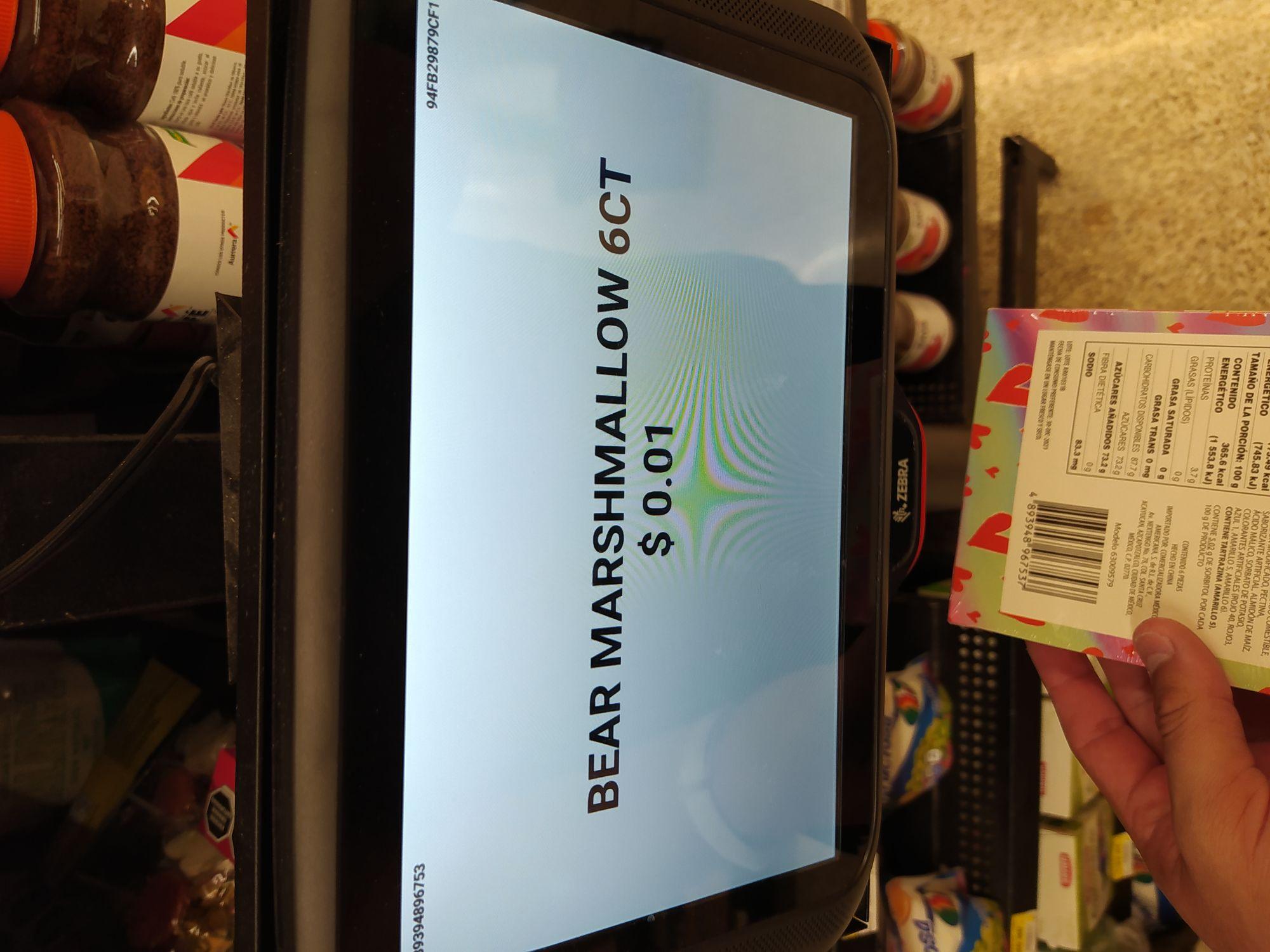 Walmart: gomitas de osito a .01 (mi primer unicornio)