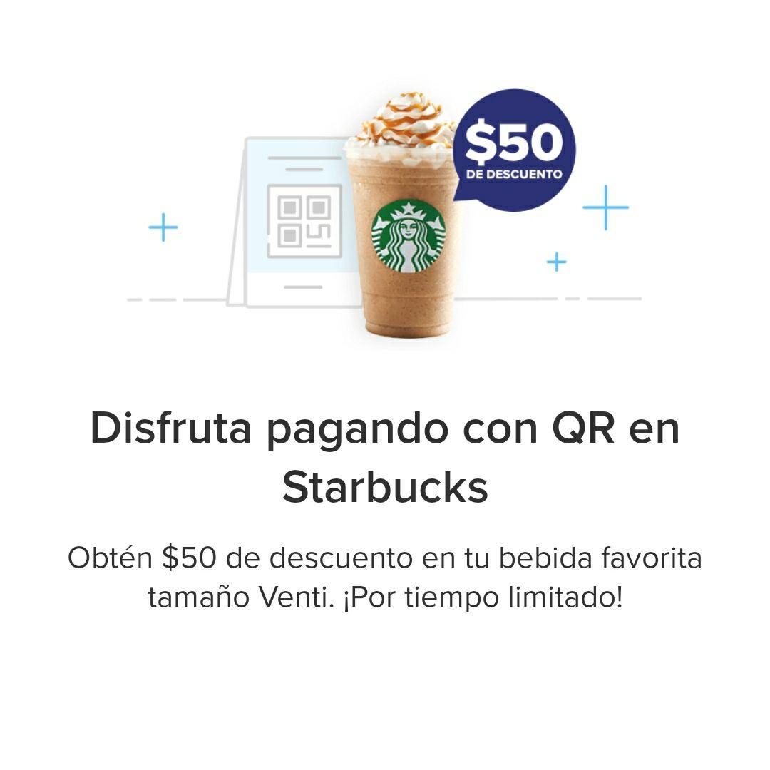 Starbucks: $50 de descuento pagando con QR Mercado Pago