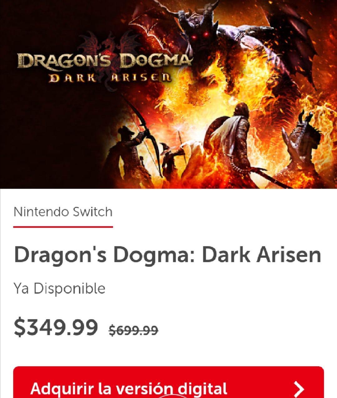 Nintendo eShop: Dragon's Dogma