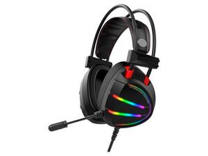 PCEL Audífonos Gamer con micrófono Eagle Warrior Quimera RGB, USB. Color Negro.