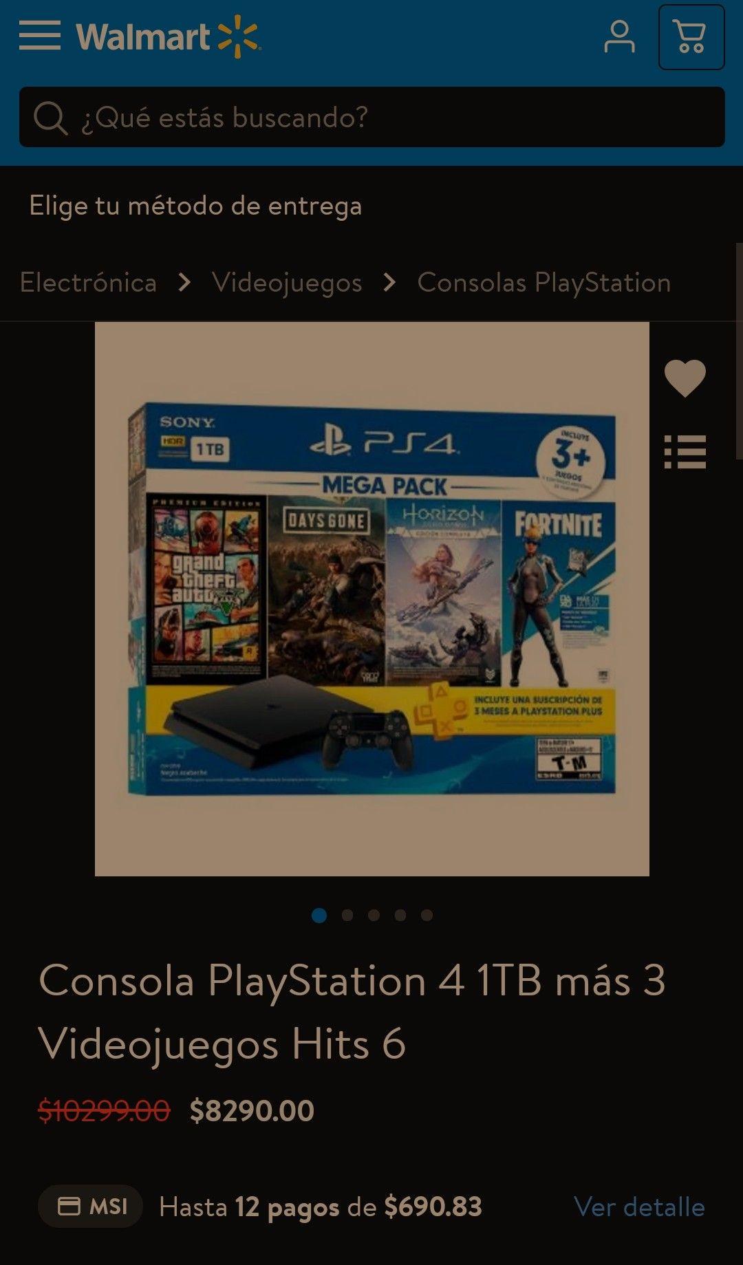 Walmart: Play Station 4 MEGAPACK