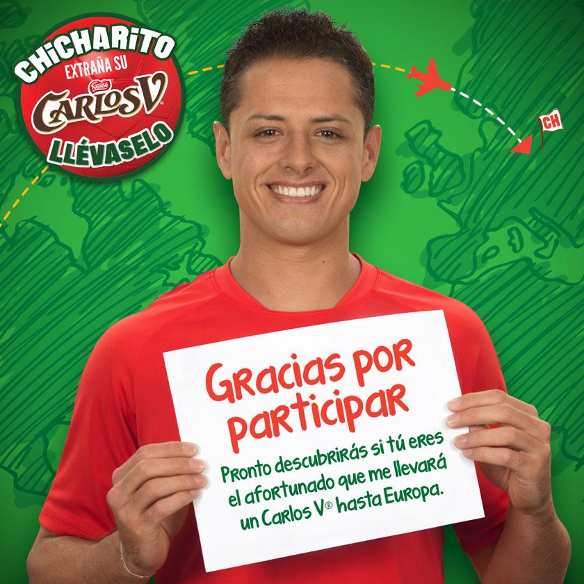 Carlos V: llévale un Carlos V a Chicharito