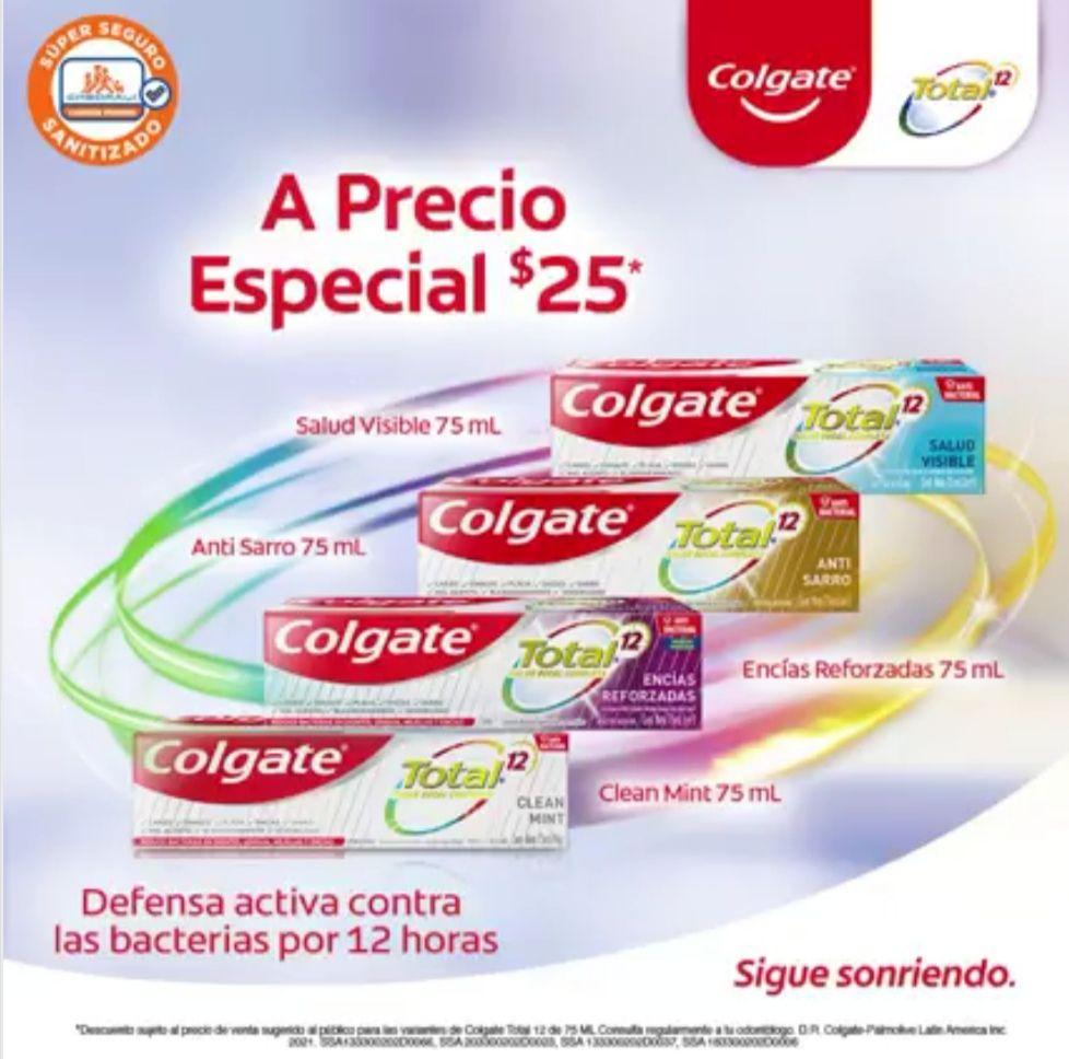 Chedraui: Pastas Dentales Colgate Total 12 75 ml (Encías Reforzadas, Anti Sarro, Clean Mint y Salud Visible) $25