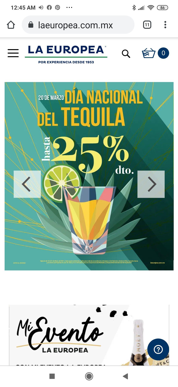 La Europea: Variedad de tequila hasta con 25%
